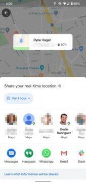 google mapy sdílení polohy nové