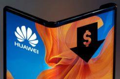 levnější ohebný telefon Huawei