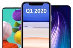 nejprodávanější telefony Q1 2020