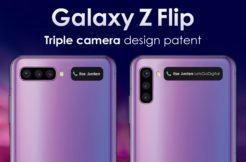 patent Samsung Galaxy Z Flip 2 tri fotoaparaty