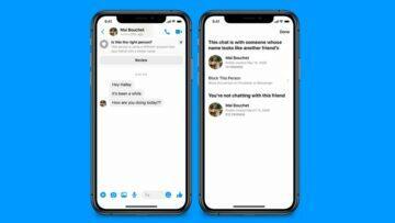 podvodné zprávy Messenger screen 1