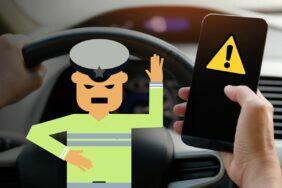 použití mobilu za volantem pravidla pri stani