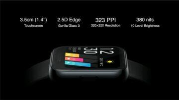 predstaveni Realme Watch displej