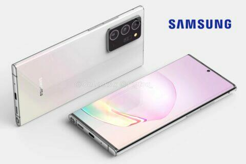 rendery Samsung Galaxy Note 20 Plus OnLeaks Pigtou