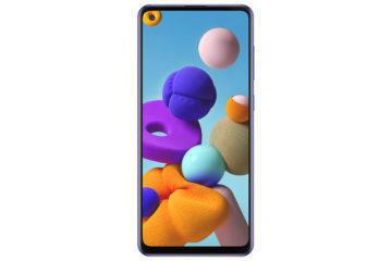 Samsung Galaxy A21s modra celo