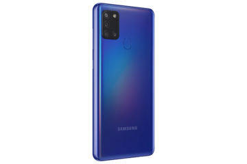 Samsung Galaxy A21s modra sikmy