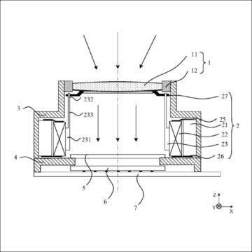 tekuté čočky huawei patent 3