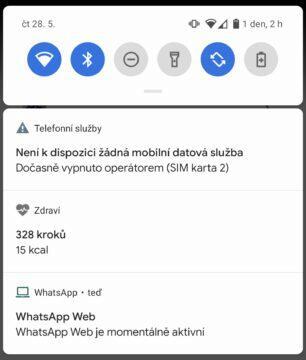 Vodafone výpadek oznámení v telefonu