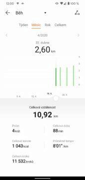 aplikace Huawei Health Zdraví beh