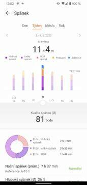 aplikace Huawei Health Zdraví spanek 2
