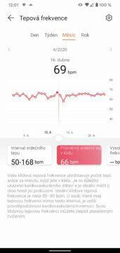 aplikace Huawei Health Zdraví tepova frekvence 2