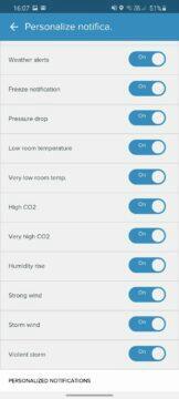 aplikace Netatmo Weather notifikace