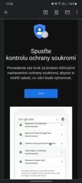 automatické mazání uživatelksých dat Google e-mailové oznámení kontrola ochrany soukromí