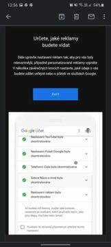 automatické mazání uživatelksých dat Google e-mailové oznámení nastavení reklam