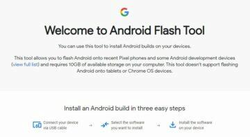 beta Android 11 instalace android flash tool web