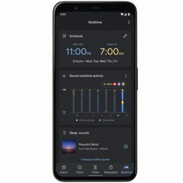 Digitální rovnováha spánek Google tipy aplikace Hodiny