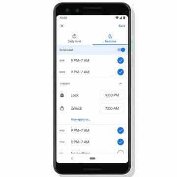 Digitální rovnováha spánek Google tipy Bedtime mode Family Link