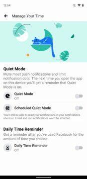 Facebook aplikace digitalni rovnovaha novy vzhled 3