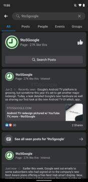 Facebook aplikace tmavý režim design screen 3