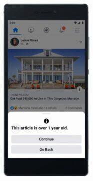 Facebook sdílení starých článků upozornění