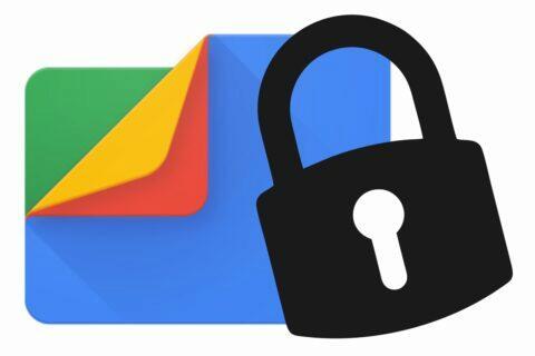 Files od Googlu zamykatelná složka