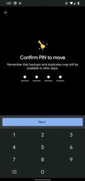 Files od Googlu zamykatelná složka potvrzeni PINem