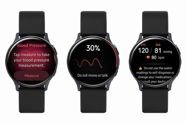 Galaxy Watch Active 2 měření tlaku
