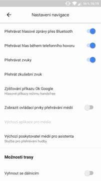Google Mapy přehrávání hudby nastaveni