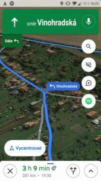 Google Mapy přehrávání hudby navigace