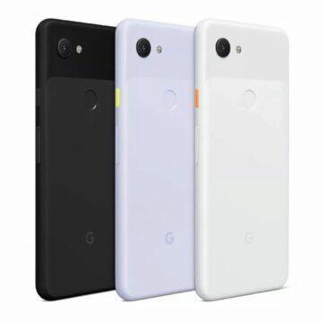 Google Pixel 3a záda barvy