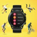 Honor MagicWatch 2 nové sportovní funkce parkour skateboard parasutismus bmx