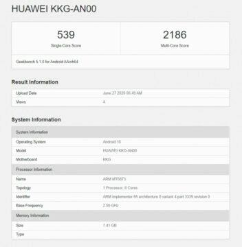 honor x10 max 5g geekbench