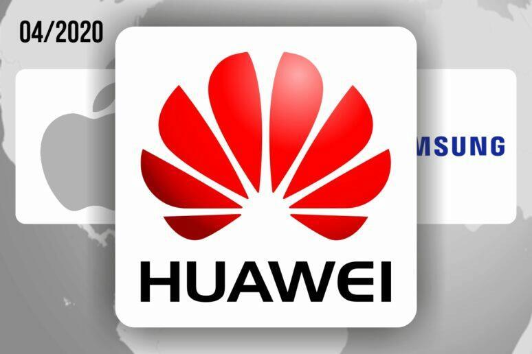 Huawei nejúspěšnější výrobce duben 2020