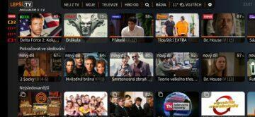 úvodní obrazovka IPTV