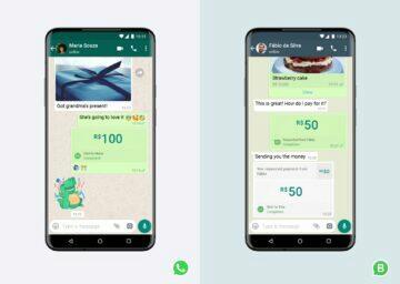 platby přes WhatsApp screenshoty