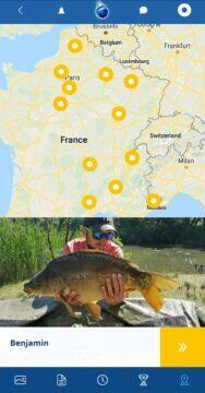 plná verze aplikace Fishsurfing průvodci Francie