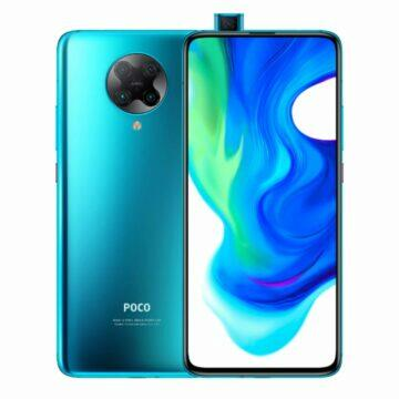 POCO F2 Pro telefony v akci bila modra