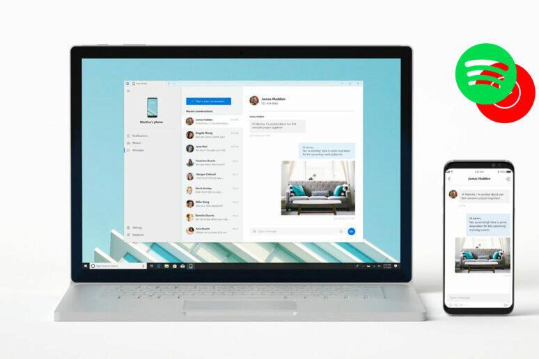 přepínání skladeb váš telefon windows 10 android