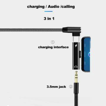Redukce z USB-C na jack a USB-C zapojeni