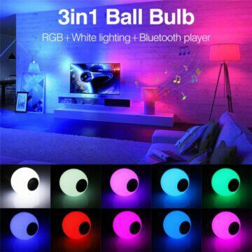 RGB žárovka s reproduktorem barvy