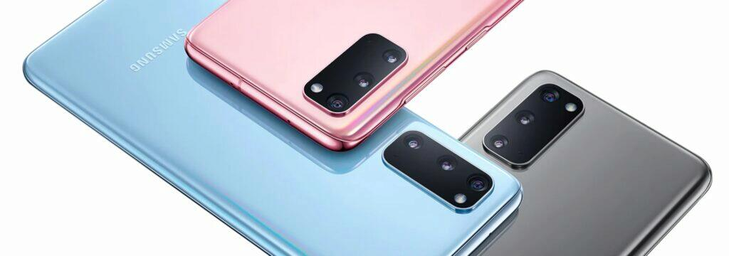 Samsung Galaxy S20 barvy promo