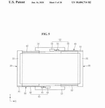 Samsung patentovaný rolovací displej predni pohled