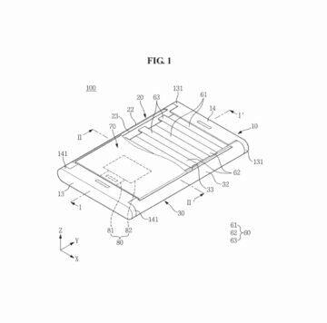 Samsung patentovaný rolovací displej slozeny