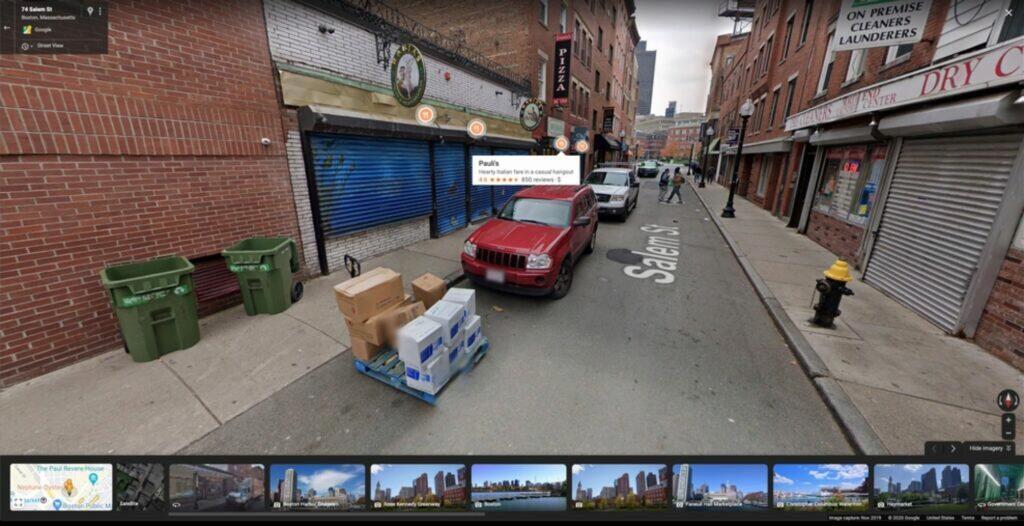 Street View nové popisky ukázka web