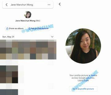 změna profilové fotografie Fotky Google Jane Manchun Wong