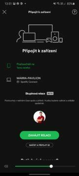 2 Spotify Skupinová relace spuštění