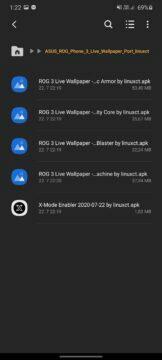 2 tapety ASUS ROG Phone 3 návod APK soubory k instalaci