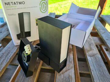 5 venkovní kamera Netatmo před instalací