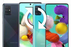 aktualizace Galaxy A51 a A71