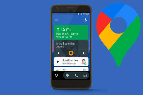 android auto google mapy